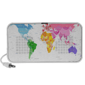 Continents World Map Speaker