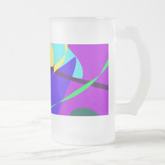 Contingency Vivid Orchid Frosted Glass Mug