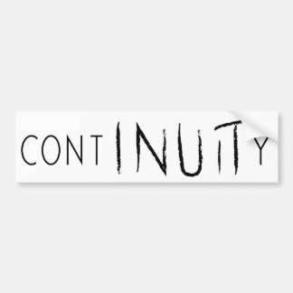 ContINUITy Bumper Sticker