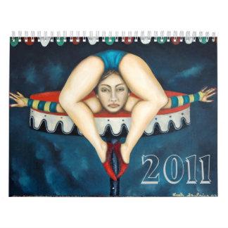 contortionist, 2011 wall calendars