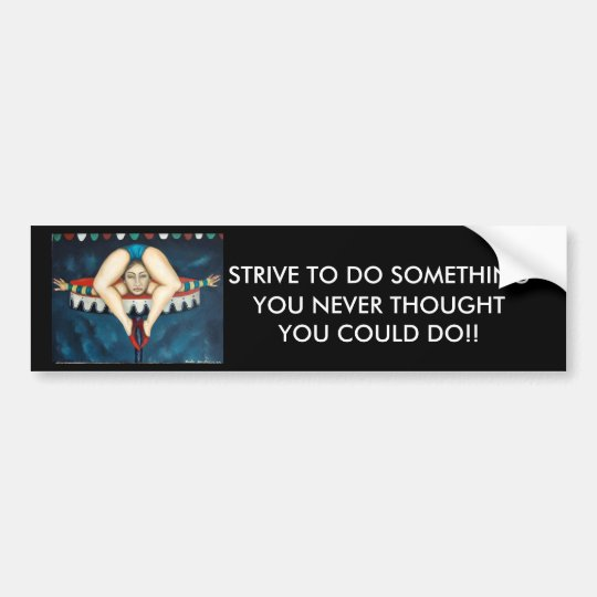 contortionist bumper sticker