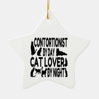 Contortionist Cat Lover Ceramic Star Decoration