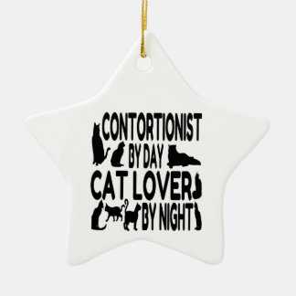 Contortionist Cat Lover Christmas Ornament