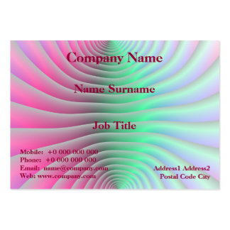 Contour Lines Chubby Business Card