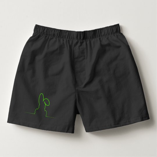 Contour of a hare light green boxers