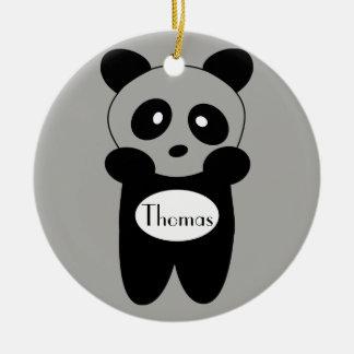 Contour ornament Baby Panda