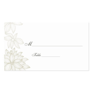 Contoured Bloom Taupe Special Occasion Place Card Business Card