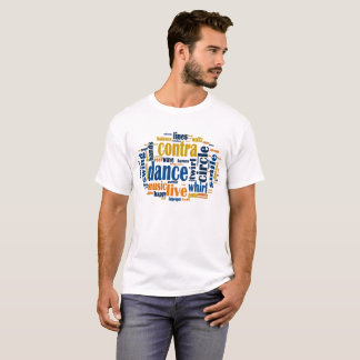 Contra Dance Word Matrix T-Shirt