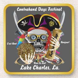 Contraband Days Lake Charles, Louisiana. 30 Colors Drink Coaster