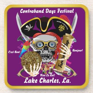 Contraband Days Lake Charles Louisiana 30 Colors Coasters
