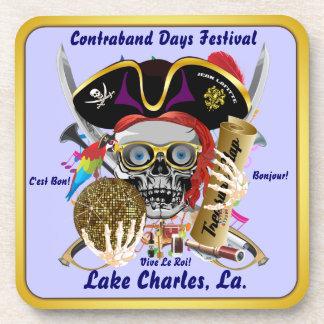 Contraband Days Lake Charles, Louisiana. 30 Colors Beverage Coasters