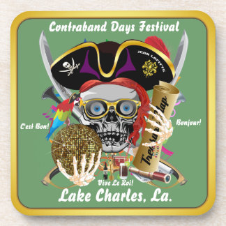 Contraband Days Lake Charles, Louisiana. 30 Colors Drink Coaster