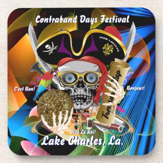 Contraband Days Lake Charles Louisiana Beverage Coasters