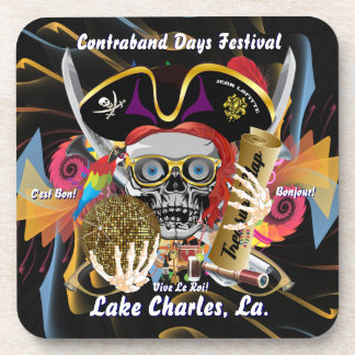 Contraband Days Lake Charles Louisiana Drink Coasters