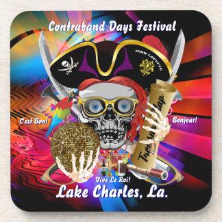 Contraband Days Lake Charles Louisiana Beverage Coaster