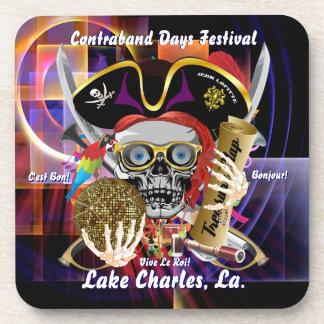 Contraband Days Lake Charles Louisiana Drink Coaster