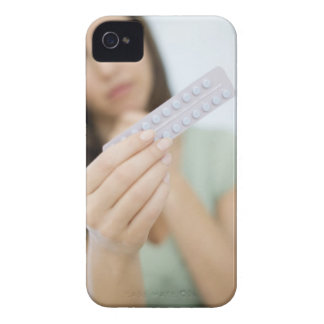 Contraceptive pills in a woman's hand. iPhone 4 Case-Mate case