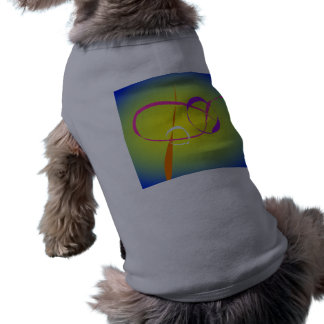 Contrast and Fuzziness Abstract Art Pet Tshirt