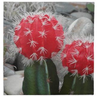 Contrast cactus napkin