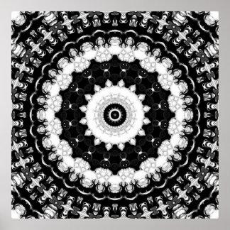 Contrast Kaleidoscope Poster