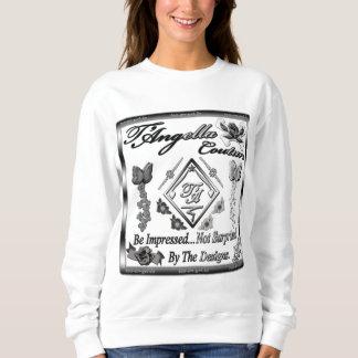 Contrasting black/white flowers Sweatshirt