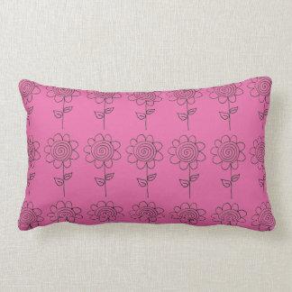 Contrasting Spiral flower Lumbar Cushion