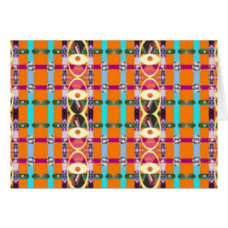 Contrastive color-pattern #1 greeting card
