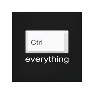 Control everything canvas print