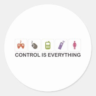 Control Is Everything  Round Sticker