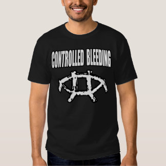 Controlled Bleeding Symbol (White, Black Shirt) Shirts