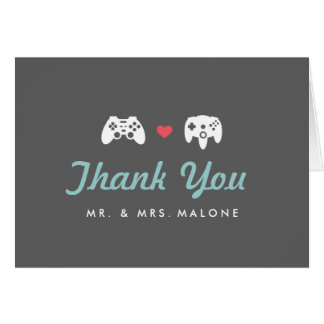 Controller Lover Thank You Note Card