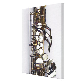 Controls of Saxophone Canvas Print