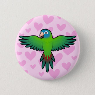 Conure / Lorikeet / Parrot Love 6 Cm Round Badge