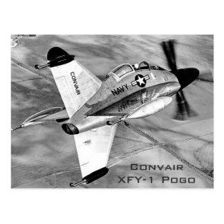 Convair XFY-1 Pogo VTOL Aircraft Postcard