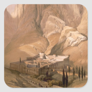 Convent of St. Catherine with Mount Horeb, Februar Square Sticker
