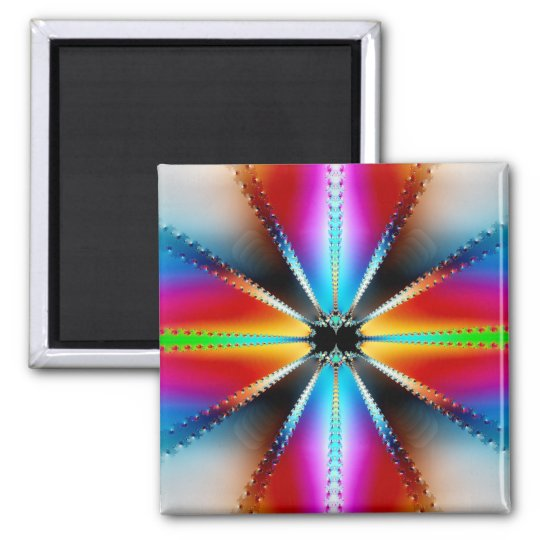 'Convergence' Square Magnet