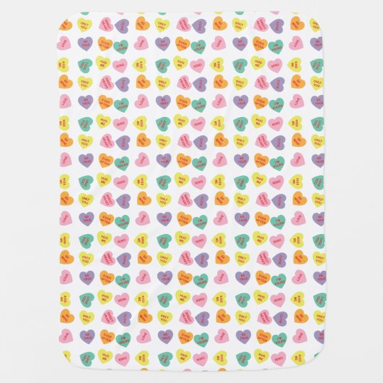 Conversation Candy Hearts Baby Blanket