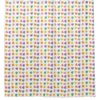 Conversation Candy Hearts Shower Curtain
