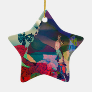 Conversation from the past ceramic star decoration