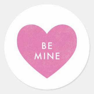 Conversation Heart Sticker - Fuchsia