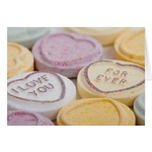 Conversation hearts candy I Love You Forever photo Card