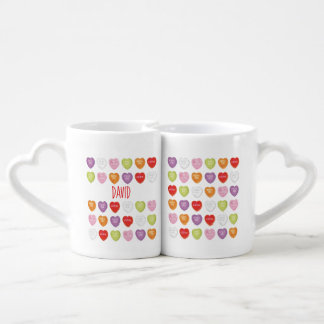 Conversation Hearts Valentine's Mugs