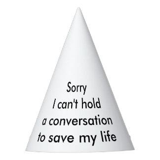 Conversation Party Hat