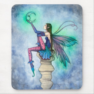 Conversation with the Moon Fairy Fantasy Art Mouse Mat
