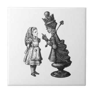 Conversations with Alice Small Square Tile