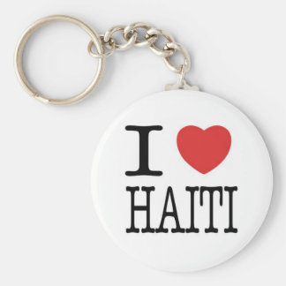 Conversations with the Living: I <3 Haiti Key Key Ring