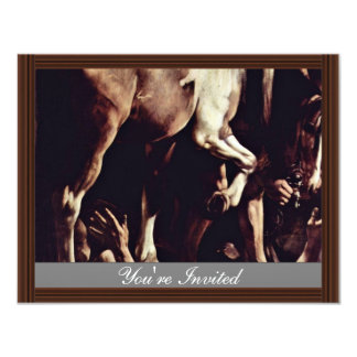 "Conversion Sauli,  By Michelangelo Merisi Da Cara 4.25"" X 5.5"" Invitation Card"