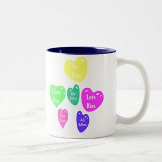 Converstaion Hearts Valentine s Day Mug