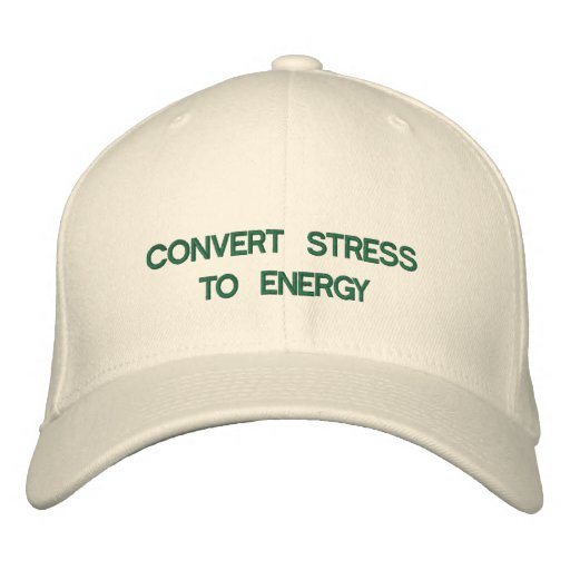 Convert Stress to Energy Embroidered Baseball Caps