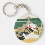 Convertible in the Country, Vintage Transportation Keychains